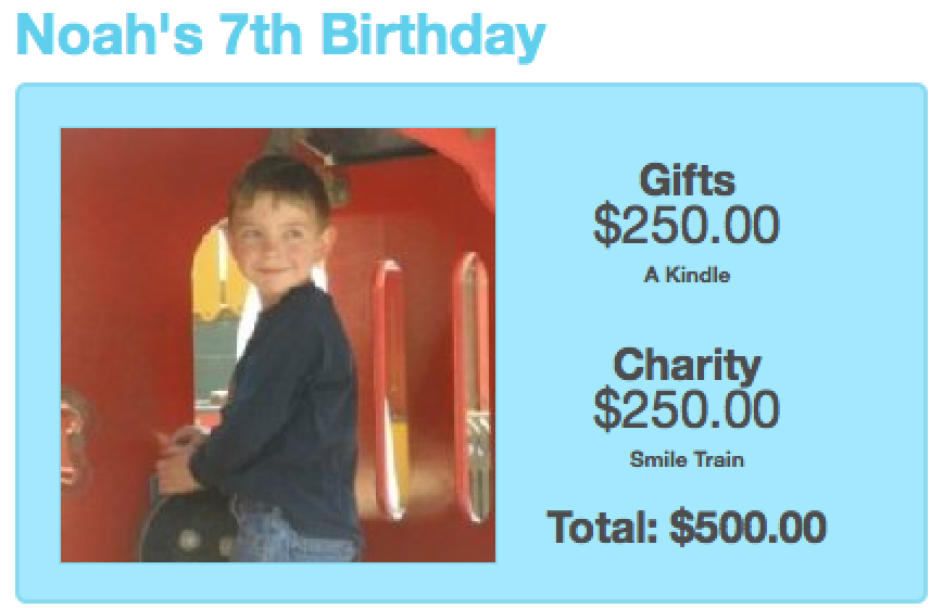 This Year He Wanted His Birthday Party To Be Much More Than A Fabulous Celebration Noah Chose Give Half Of The Funds Raised At